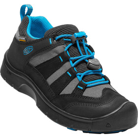 Keen Hikeport WP Shoes Kids black/blue jewel